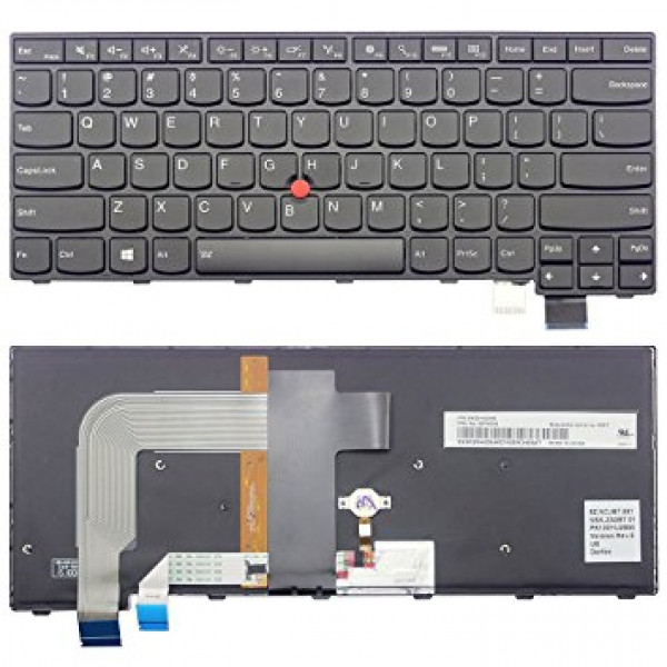 Tastatura laptop noua LEnovo Thinkpad T470S Black Frame Black ( Backlit, For WIN8) US