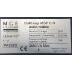 PDU MGE UPS SYSTEMS Hotswap MBP DIN 3400793800 1XBH41167 3680VA Max