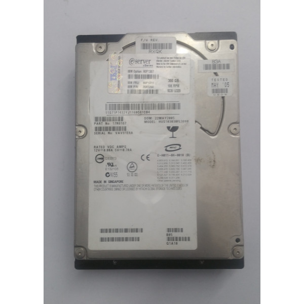 Hard disk server SCSI IBM 300GB 10K U320 90P1307 26K5260 3.5''