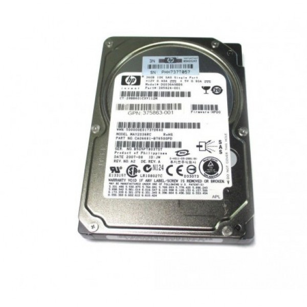 Hard disk server HP Single Port 36GB 10K 2.5'' SAS 395924-001 GPN 375863-003