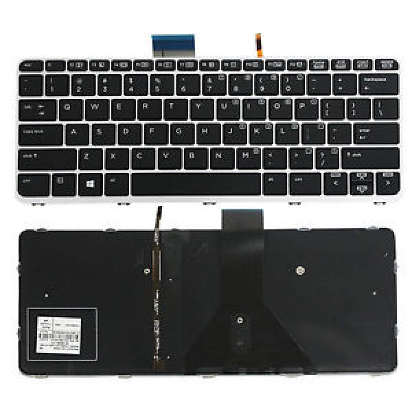 Tastatura laptop noua HP Elitebook Folio 1020 G2 Silver Frame Black Backlit WIN8