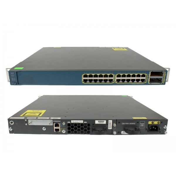 Switch Cisco Catalyst 3560-E WS-C3560E-24TD-E 24-port 10/100/1000 + 2 X2 10GB uplinks