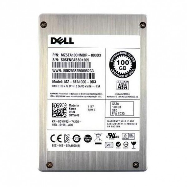 "SSD server sata 2.5"" 100gb DELL DYW42 Model MZ-5EA1000-0D3"