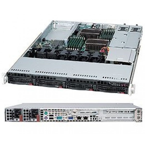 Server Supermicro CSE-815 X9DRW 2 x E5-2650 32Gb RAM