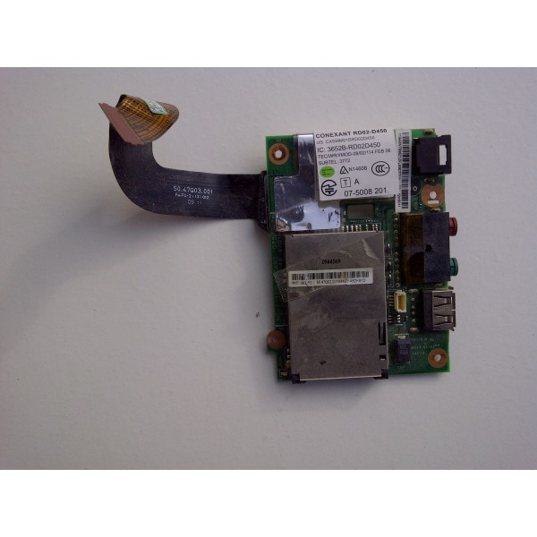 Modul USB, audio, port card memorie, cu cablu Lenovo Thinkpad X200s 42W8011